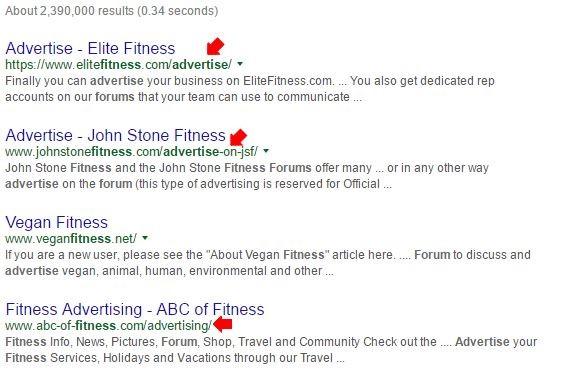 fitness niche ads